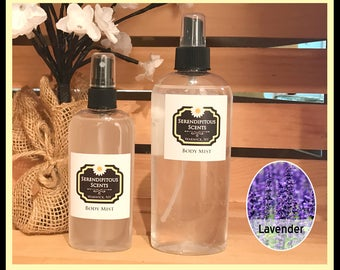 Lavender Body Mist, Lavender All Natural Body Mist, Lavender Body Spray, Lavender Room Spray, Lavender Linen Spray, Lavender Perfume