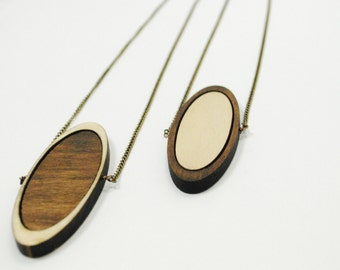 Ecliptic - Wooden Laser Cut Necklace
