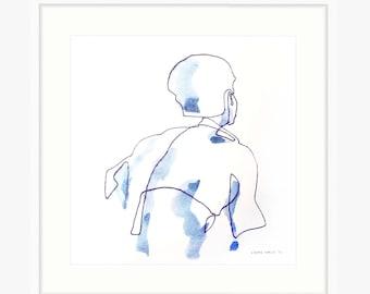Single Line Art Print : Art print betty one line drawing by laura wells