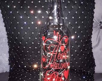 Personalised light up bottle