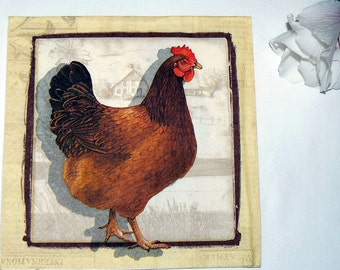 2  images Napkins from Holland Chicken