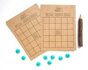 Floral Bridal Shower Bingo - Personalized Bingo Game Cards - Floral Bingo Cards - Rustic Bridal Shower - Custom Bingo Cards - Garden Wedding
