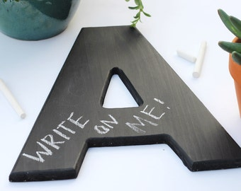 Custom 12-inch chalkboard letter, ANY LETTER, chalkboard sign