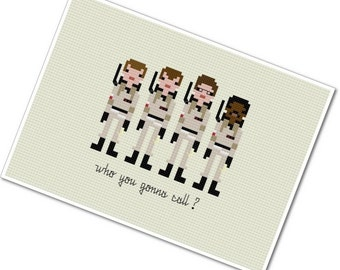 Ghostbusters - The *Original* Pixel People - PDF Cross Stitch Pattern - INSTANT DOWNLOAD