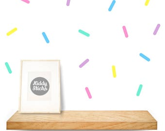 50 x Sprinkle Shaped Wall Decals / Stickers