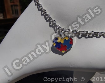 Autism Awareness Puzzle Ankle Bracelet