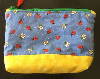 ladybugs zippered pouch
