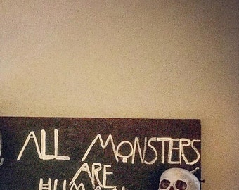 American horror story mantle decor