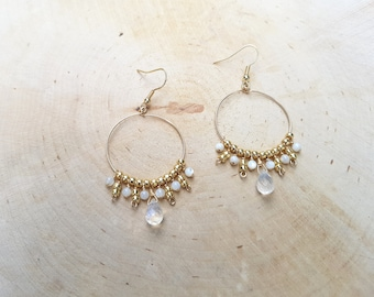 COMETS Creole gold filled and semi-precious stones