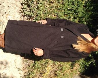 Long black wool coat, Portrait USA, Large,coat