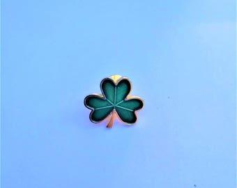Hallmark Green Shamrock Lucky Clover Lapel Pin