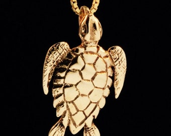 Gold Sea Turtle Necklace Turtle Necklace Turtle Charm Sea Turtle Pendant Sea Turtle Jewelry Ocean Jewelry Animal Charm Gold Necklace