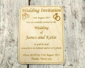 Wedding invitations, wedding invites, wooden wedding invitations, wooden wedding invites, wooden invites, wooden invitations