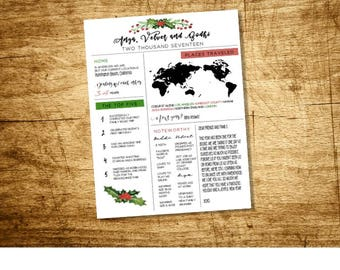 Year in Review Printable, Christmas Card Printable, Holiday Printable, Family Milestone Poster