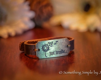 Just Breathe leather cuff