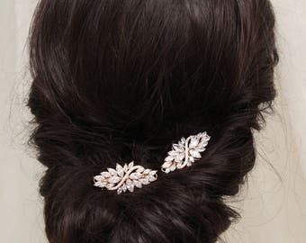 Rose Gold  Bridal Hair Combs, Vintage Style Crystal  Hair Comb, Bridal hair comb,Wedding Hair comb, Bridal Headpiece, Art Deco hair comb, UK