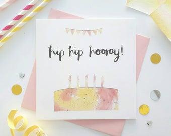 Fun birthday card - Modern birthday card - Birthday card for friend - Fun Happy Birthday card - Birthday card for her - Cake lover birthday