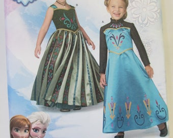 Disney Frozen Halloween Costume  paper pattern un- cut Simplicity 1222 sizes 3-8
