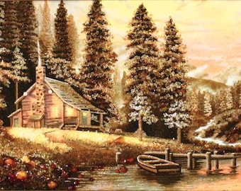 """Amber picture """"evenings at the river"""""""