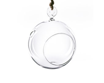 Glass Hanging 4 inches Bubble Plant Terrarium Holder Orbs, Pack of 6, 24 or 48 pcs