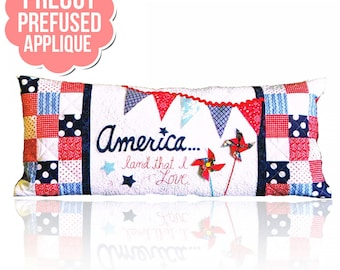America Land That I Love - PRE-FUSED Applique Kit- designed by Kimberbell - Interchangeable Covers and Bench Pillow