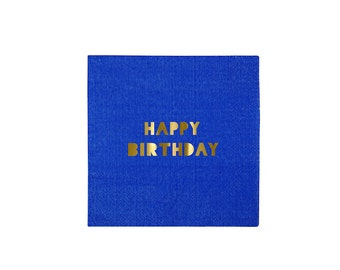 Toot Sweet Happy Birthday Small Paper Napkins by Meri Meri, Party Supplies, Tableware