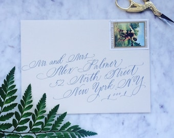Elegant Wedding Calligraphy Scripted Font on Angle, Affordable Calligrapher