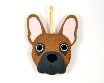 Felt Dog Ornament - French Bulldog