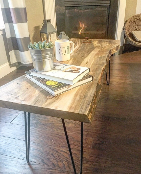 Reclaimed Live Edge Maple Coffee Table Bench Industrial: SOLD Live Edge Reclaimed Crotch Ambrosia Maple Coffee Table
