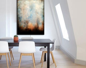Original ABSTRACT PAINTING Custom Painting Large Canvas Art White Abstract Wall Art Minimalist Painting Industrial Modern Art Minimalist Art
