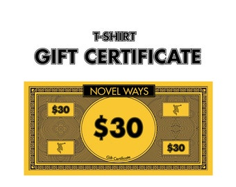 T-Shirt Gift Certificate