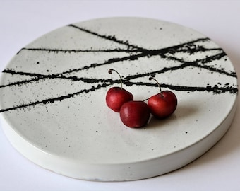 Handmade Ceramic Plate/ Appetizer Plate/ Tapas Platter/ Cheese Plate / Pottery Minimalist Plate
