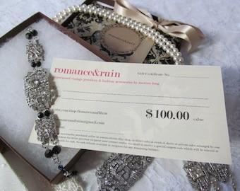 Gift Certificate One Hundred Dollars
