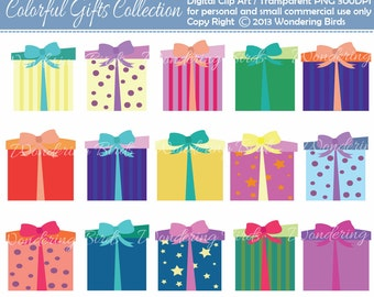 Gifts Clipart - Digital Clip Art Instant Download