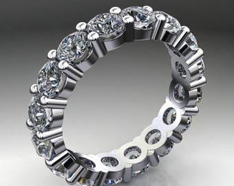 brigitte ring - 4 carat NEO moissanite eternity band, 14k white gold