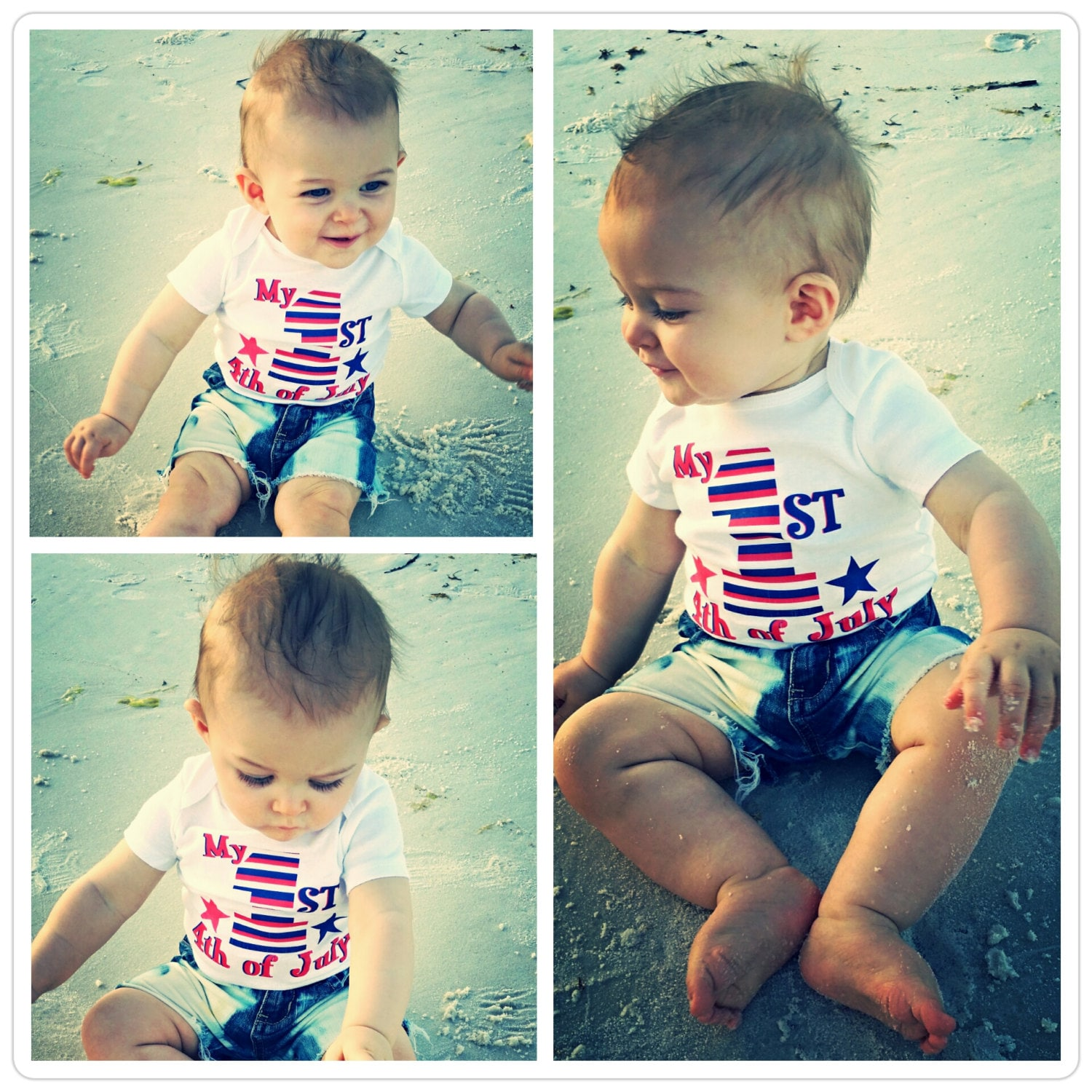 Patriotic Baby First 4th of July Patriotic Shirt Baby Boy