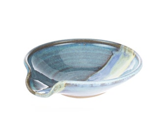 Spoon Rest in Bayou Glaze. Wheel thrown stoneware pottery spoonrest / ceramic spoon rest / kitchen decor /