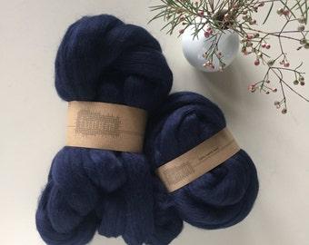 Merino Wool Roving 541 Navy Blue