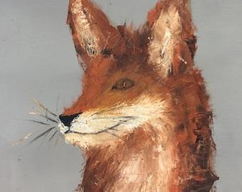 Sly fox original oil painting
