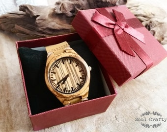 Personalized Wooden Watch Engraved Birthday Wedding Grooms gift BFF Groomsman Best Man Wedding Anniversary Valentine's Gift