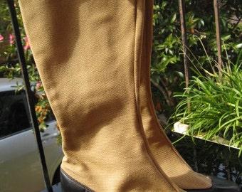 1960s 1970s go go boots / spats - Sz 9-9 1/2
