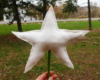 Star Tree Topper, Christmas Tree Topper, Burlap Tree Topper, Rustic Tree Topper, Christmas Tree Topper Star, Tree Star, tree topper star