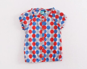 2017 summer new style tchildren's boys and girls' dot shirts