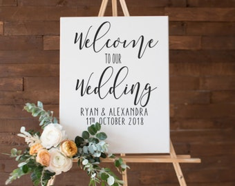 DIY Welcome wedding decal sticker