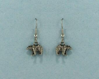 Bear Earrings - Bear Jewelry - Bear Charm Earrings - Bear Gift - Loves Bears - Bear Photographer - Bear Activist - Bear Hunter - Bear Trophy
