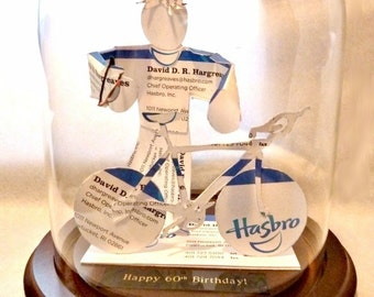Triathlete Business Card Sculpture -Any theme, hobby, sport or Profession - Design 1003