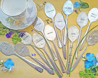 Vintage Stamped Spoon Garden Marker for Herbs (Tablespoon) ~ Teachers Gift ~ Fathers' Day ~ Upcycled Gardening ~ Rustic Housewarming Present