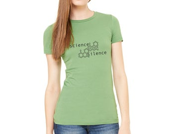 Science Shirt / Science March Shirt / March Shirt / Protest Shirt / Climate Change Shirt / Environment / Science not Silence / Earth Day