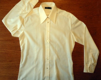 """Vintage Pointed Collar Long Sleeve Shirt-Size 16""""-New Old Stock"""