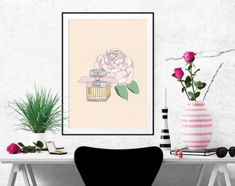 Chloe Perfume Fashion Illustration Art Poster